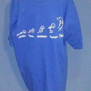 "Royal Blue ""Celebrate Friday"" Men's Tee size XL"